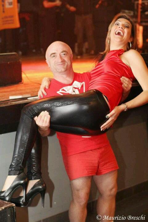 After show! Con Rocco il Gigolò. Eleonora veste Claudia B. Acconciatura Noes Parrucchieri