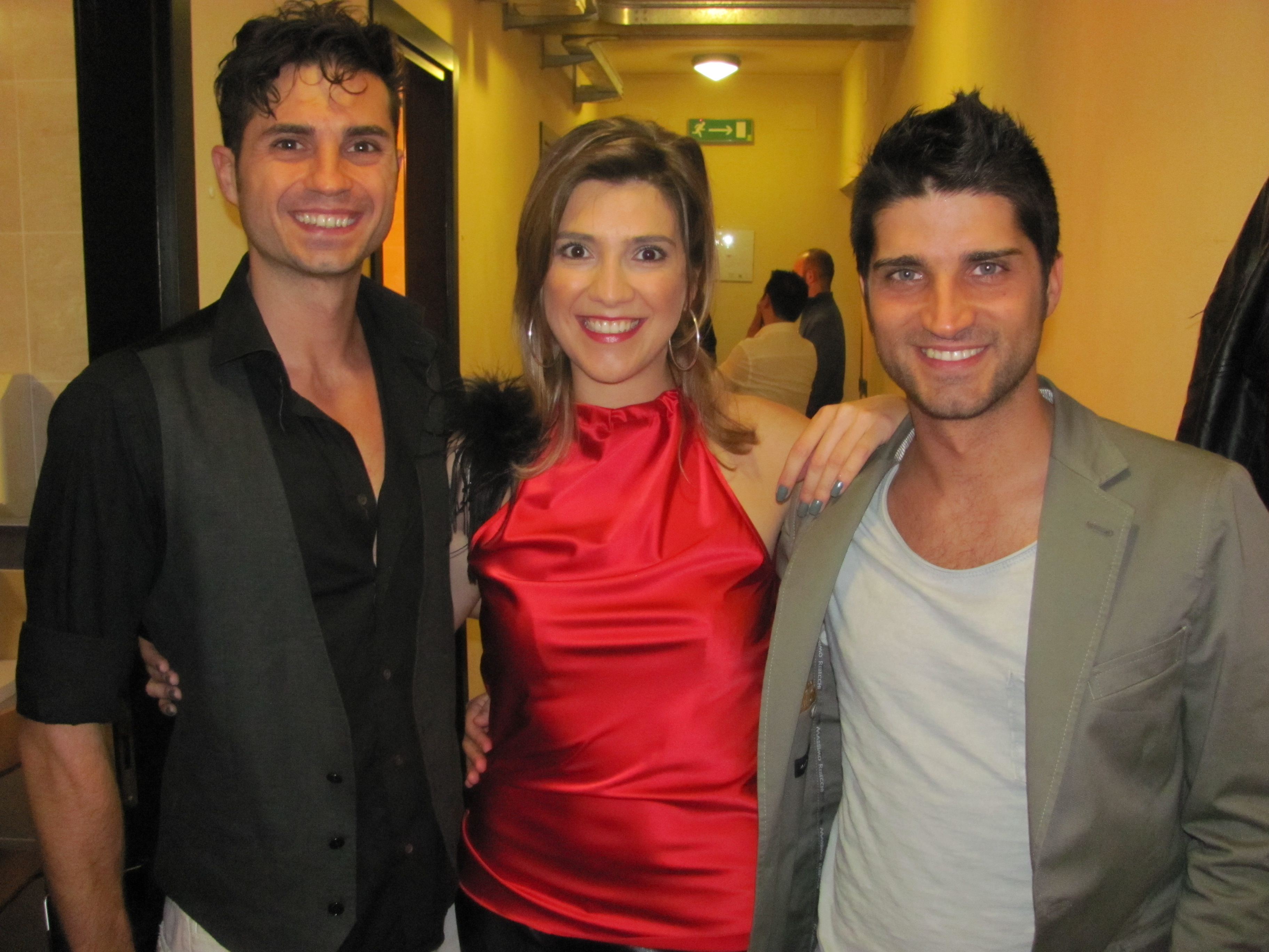 After show con i Borghi Bros. Eleonora veste Claudia B. Acconciatura Noes Parrucchieri