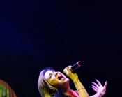 Live con la band dei Borghi Bros! Eleonora veste Claudia B. Acconciatura Noes Parrucchieri